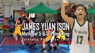 2018 Palarong Pambansa 3-Point  King James Yuan Ison Basketball Highlights
