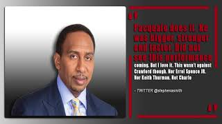 Stephen A. Smith disses Manny Pacquiao after Lucas Matthysse win | #ThePlug