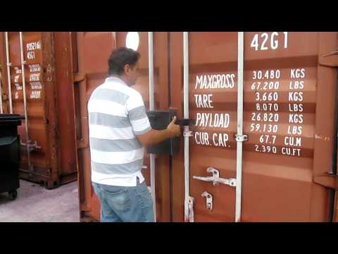 Smart Locker with GPS Tracker for cargo container model  Zeus III