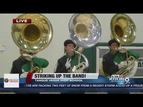 Tanque Verde High School shows off for the GMT Wake Up Call