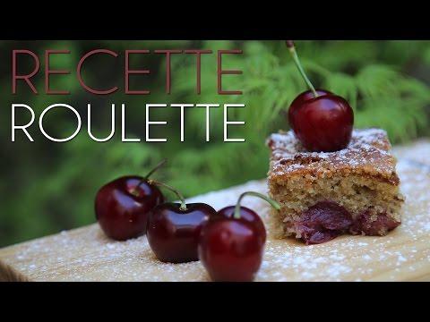 Gâteau délicieux aux cerises et amandes