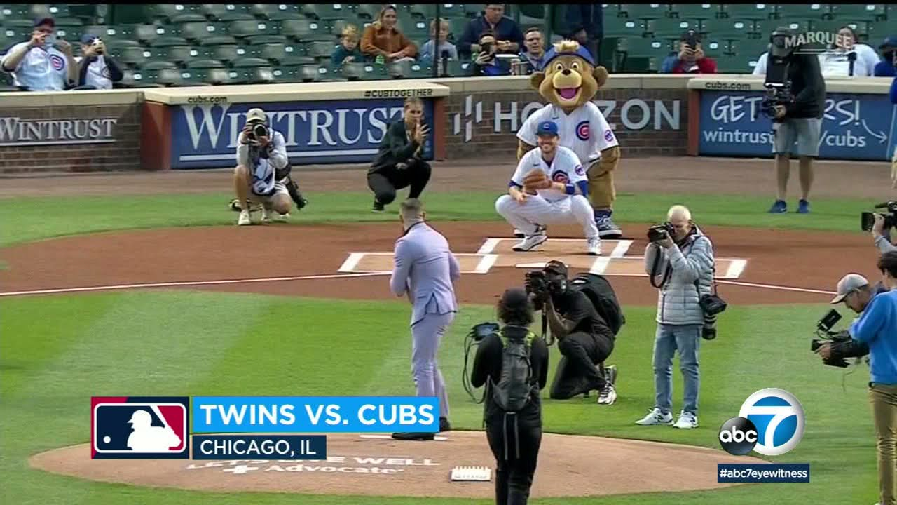 Conor McGregor's ceremonial first pitch at the Cubs game was ... out ...
