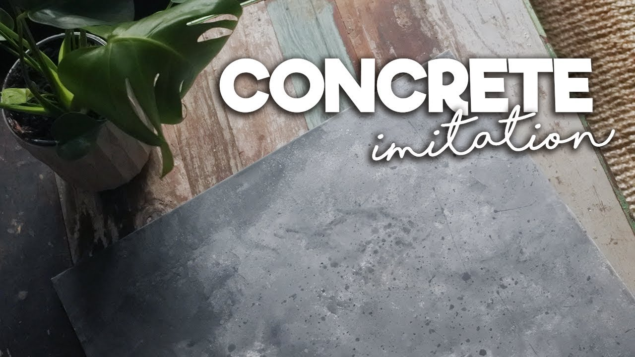 Concrete Look With Chalk Paint Betong Look Med Chalk