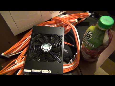 Ftw sleeving done on cables installed new fans but bad news:(