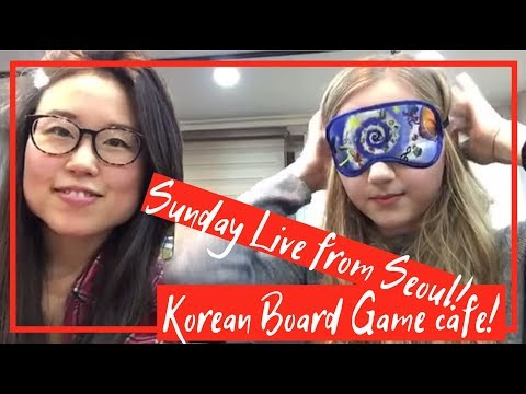 YouTuber Livestream from a board game cafe in Seoul! - Vlogmas Day 3