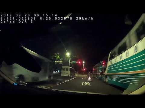 【】三寶闖紅燈,沒想到...後面有警察