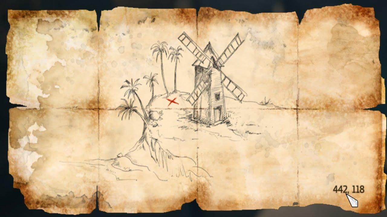 Assassins Creed Iv Black Flag Treasure Map 442 118 Youtube