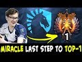 MIRALCE last step to TOP-1 — holding Rank 2 now
