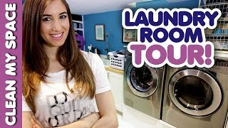 Laundry Room Tour! (Clean My Space)