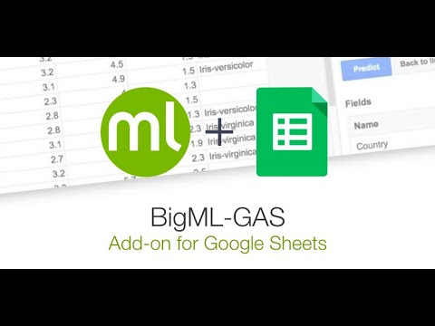 BigML Add-on for Google Sheets