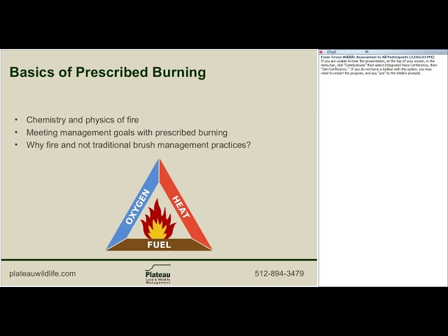 Prescribed Burn Associations - Wildlife for Lunch Webinar - July 2017