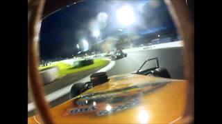Brisca F2. On board s100 George MacMillan Jr. Meeting final at Cowdenbeath Racewall. 10/8/13