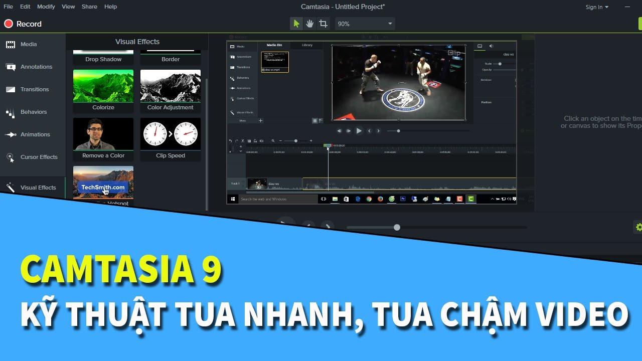 Camtasia 9 | Hướng dẫn kỹ thuật tua nhanh, chậm video