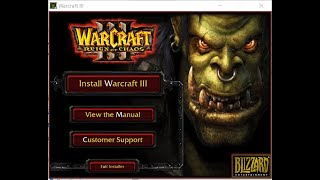 How to Install the Original Version of Warcraft 3 and Patch It