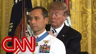 Trump awards Medal of Honor to retired Navy SEAL