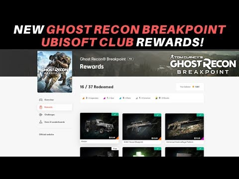 Ghost Recon Breakpoint - NEW UBISOFT CLUB REWARDS!