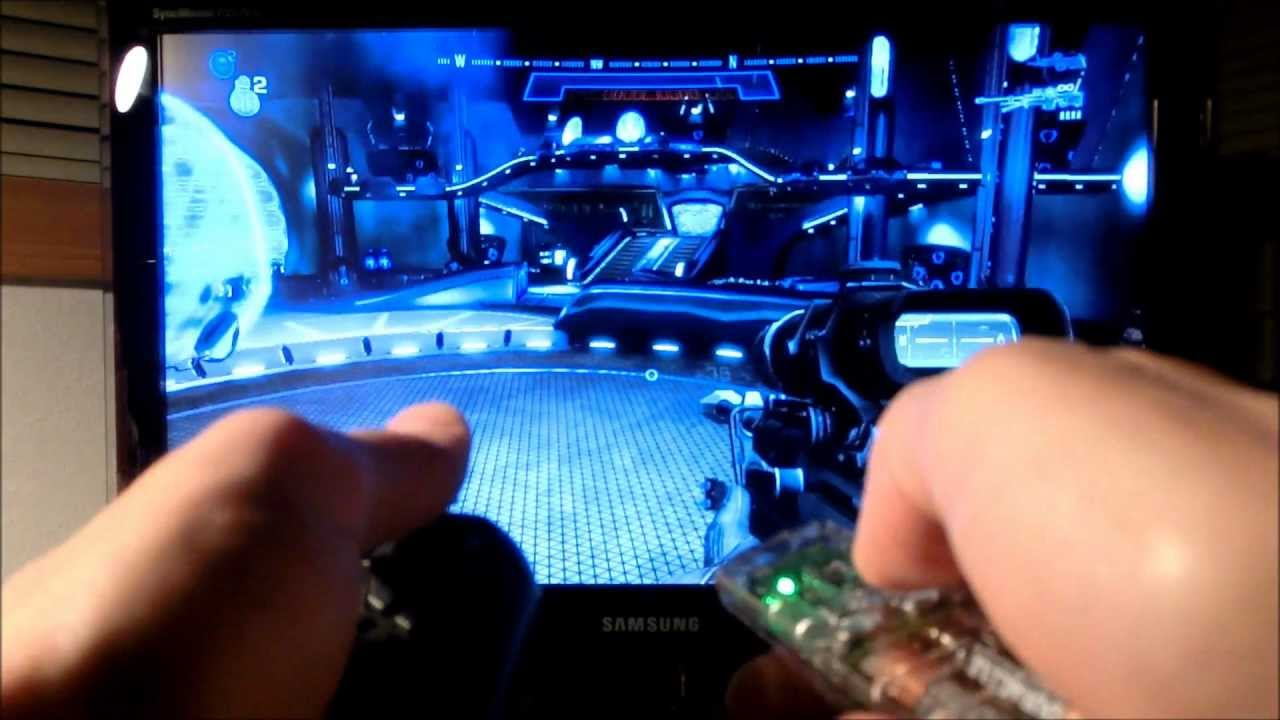 Playing Halo Reach with an Air Mouse