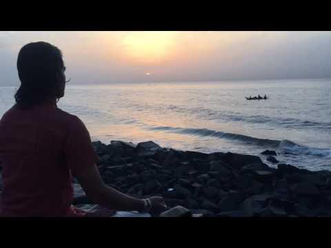 Meditation with Rising Sun in Pondicherry, India with Sanjay Yogacharya