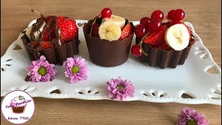 ÇİKOLATA Kasesi Nasıl Yapılır ? Meyve veya Dondurmalı Sunum