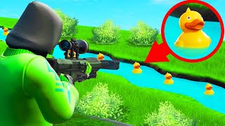 Playing DUCK HUNT In FORTNITE! (*NEW* MINIGAME)