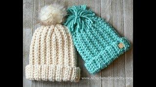 Knit-Look Super Bulky Slouch - Crochet Video Tutorial