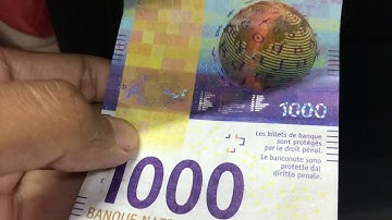 1,000 CHF New Banknote