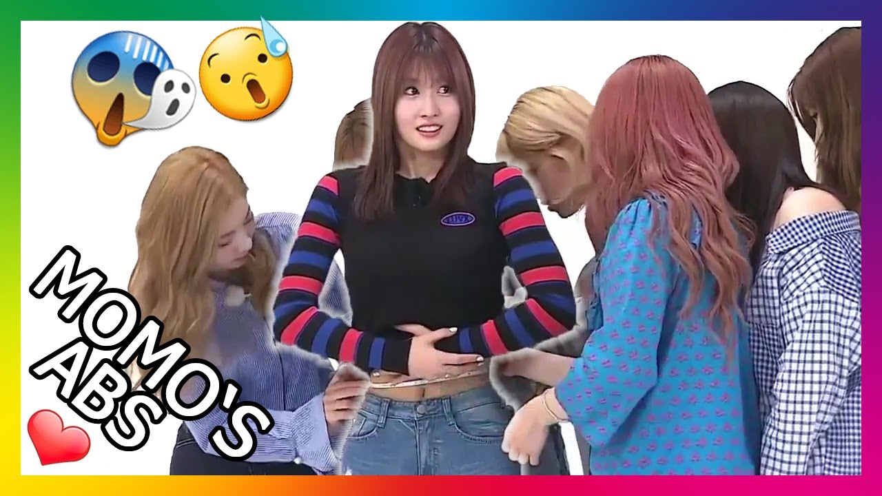Download [Eng Sub] Momo's (TWICE) waist gets measured @Weekly Idol