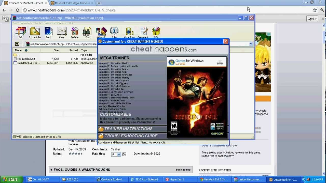 RESIDENT EVIL 5 CHEAT DX10 AND DX9 By REZA