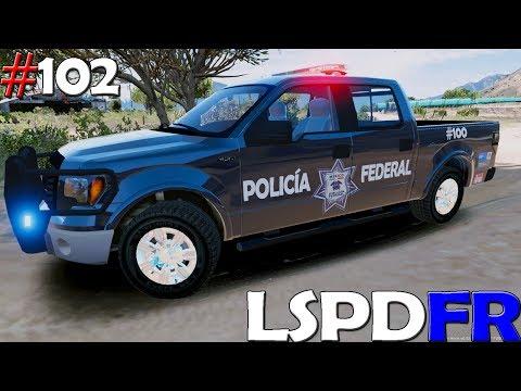 GTA V LSPDFR #102 POLICÍA FEDERAL FORD F-150 PERSIGUIENDO A SICARIOS | TheAxelGamer