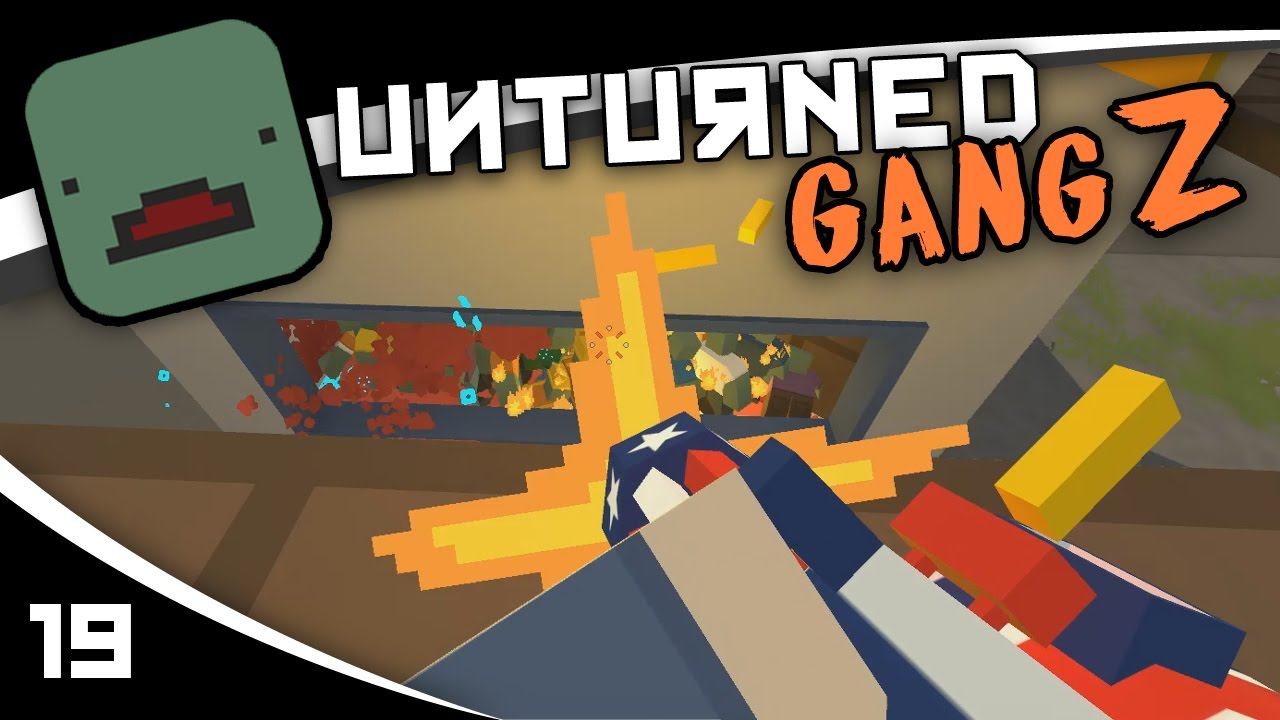 UNTURNED GangZ Russia Airport HORDE BEACON S02E19 How To Hunt