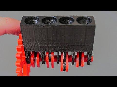 Отпечатал РАБОЧИЙ Двигатель на 3D Принтере