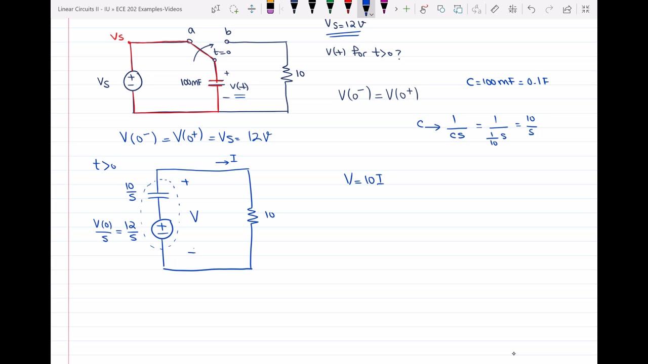 circuit analysis using laplace transform youtube