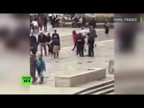 Notre-Dame : une vidéo montre l'assaillant se précipiter sur le policier avant d'être neutralisé