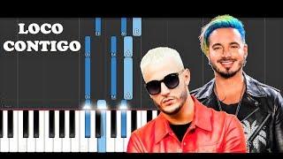 DJ Snake, J Balvin, Tyga - Loco Contigo (Piano Tutorial)