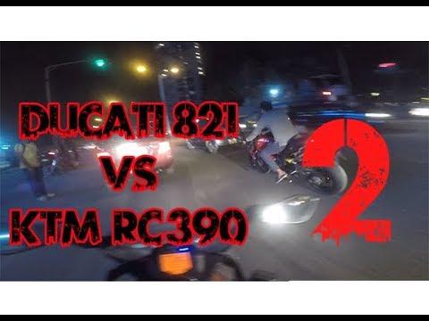 NO RULES STREET RACE -| Ducati MONSTER  vs  KTM RC  |
