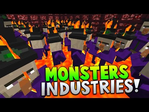 THE WITCH ARMY!! | Minecraft MONSTERS INDUSTRIES with The Pack