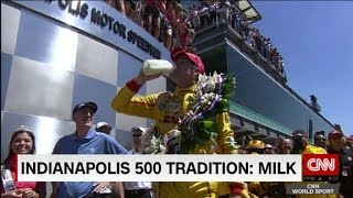 Why do drivers drink milk at Indy 500?