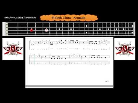 Bass - Mabuk Cinta - Armada ( Tab Bass Cover )