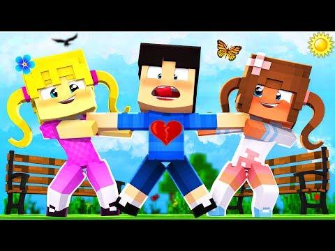 Minecraft Kindergarten - 2 CRAZY GIRLS FIGHT FOR MY LOVE!