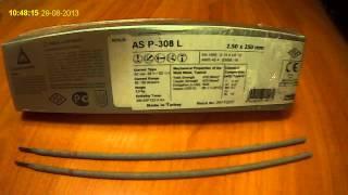 Электроды для сварки нержавеющих сталей AS P-308L ASKAYNAK(, 2013-08-29T08:37:55.000Z)