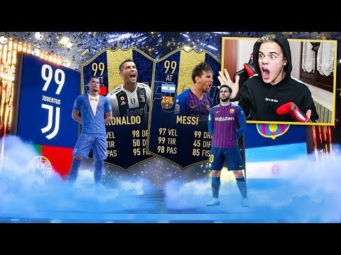 😱 RONALDO TOTY 99 & MESSI TOTY 99!!! 100k Lightning Rounds PACK OPENING | FIFA 19 ULTIMATE TEAM