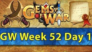 ⚔️ Gems of War Guild Wars   Week 52 Day 1   Finally Back! Hall of Guardians Delving ⚔️