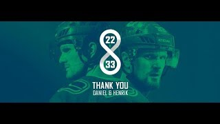 Henrik and Daniel Sedin Career Tribute - My Favorite Players - Thank you so much!