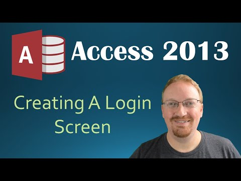 35. VBA - Creating A Login Screen (Programming In Access 2013)