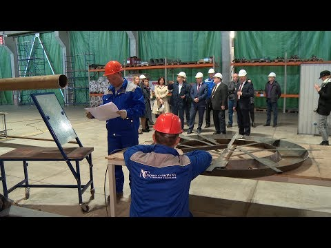 Производство основного резидента индустриального парка «Шексна» посетил Виталий Тушинов