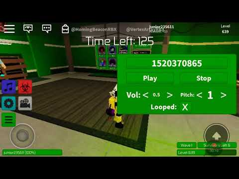 Music Codes For Roblox Zombie Rush