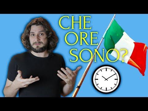Говорить о времени по-итальянски | спросить время | Который час? Che ore sono? | итальянский язык