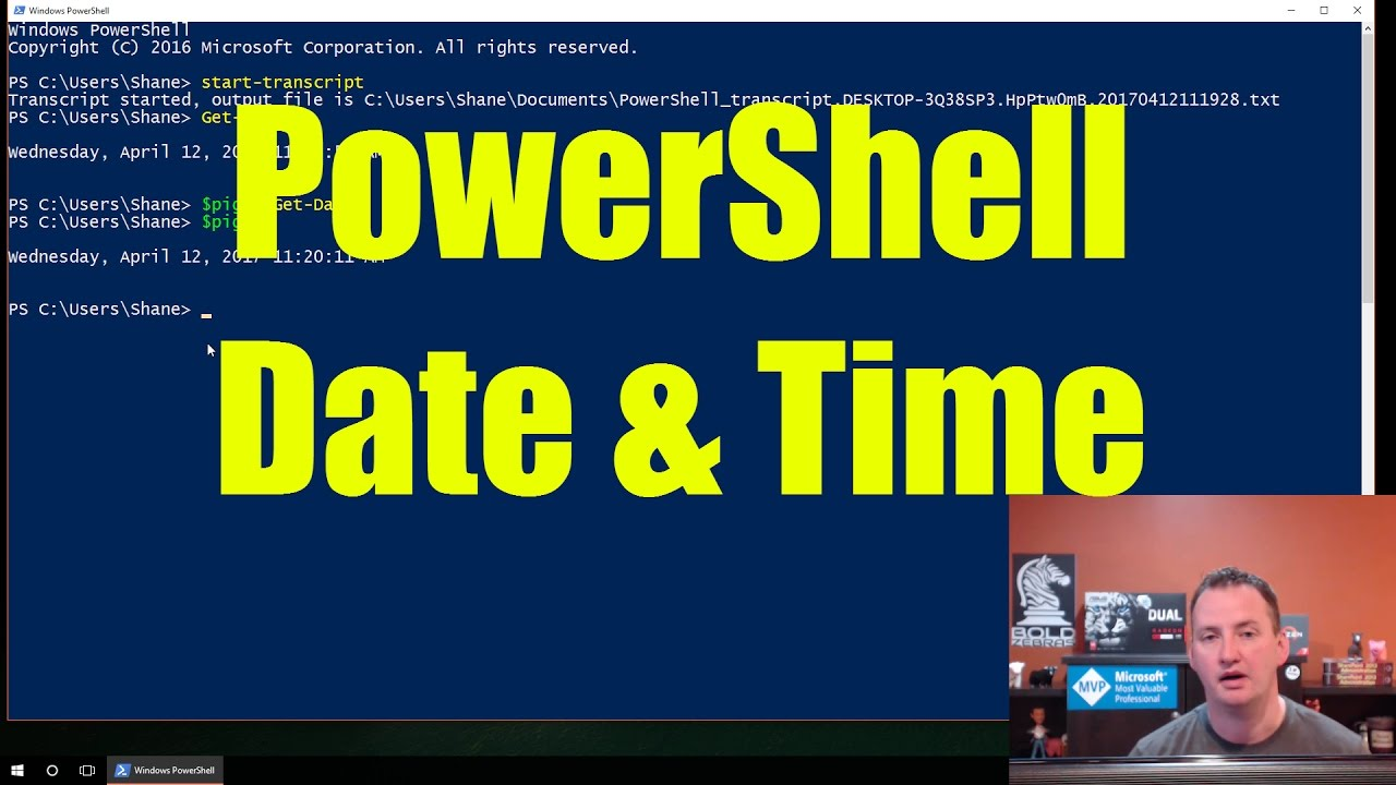 Work with Date & Time with PowerShell