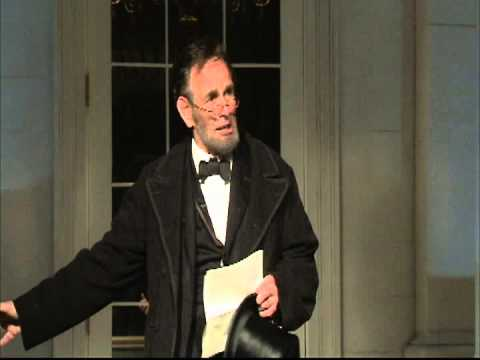 Abraham Lincoln delivers the Gettysburg Address on its Anniversary