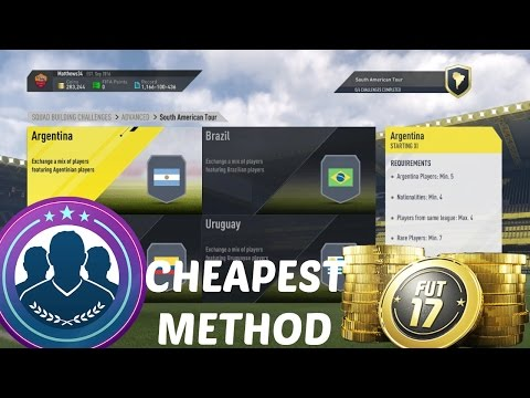 FIFA 17: NEW SOUTH/NORTH AMERICAN TOUR SBCS (CHEAPEST METHOD)!! BEST SNIPING FILTERS- INSANE PROFIT